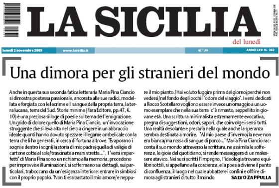 la sicilia, maria pina ciancio